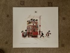 Francis Lennon Signed Artists Print | Our Rainy Manchester