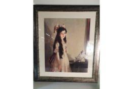 Framed Painting of Girl