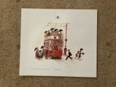Francis Lennon Signed Artists Print   Our Rainy Manchester