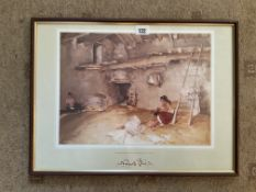 "Russell Flint Print | ""A Scrap of Newspaper"""
