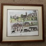 Francis Lennon Signed Artists Print Village Life Past & Present | 1/350