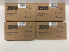 4 x Zoo Hardware 3 Lever Sash Lock | ZUKS364SS | Total RRP £59.28