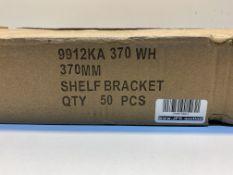 5 x Boxes Of 9912KA.370.WH 370mm Shelf Brackets | 10 pcs per box