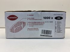 Lamello Biscuits - Size 20 (Box of 1,000)