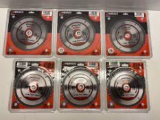 6 x Various Abracs Circular Saw Blades | Total RRP £37.00