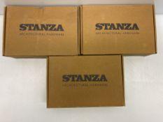 3 x Zoo Hardware Lever Door Handle on Backplate | ZCZ032SC | Total RRP £28.23