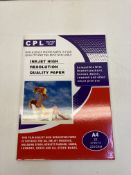12 x CPL Inkjet High-Resolution Quality A4 Paper Packs