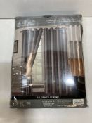 2 x Elegance by Zaara Ultimate Luxury Eyelet Curtains | Dark Grey