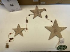 16 x Wooden Hanging Stars