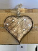 3 x Boxes Verona Hanging Hearts | 6 pcs per box
