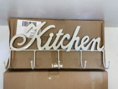3 x Boxes 'Kitchen' Hooks | Cream