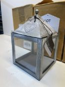 3 x Indoor/Outdoor Lantern | Silver