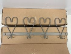 3 x 4 Hook Coat Rail | Silver