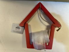 24 x House Shaped Tealight Holders | Red
