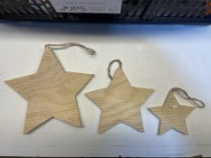 18 x Sets of Wooden Stars