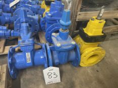 3 x Various Resilient DN100 Seated Gate Valves - As Pictured