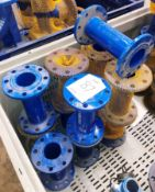 12 x Straight Double Flanges DI 80mm x 300 - PN16