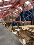 18 Bays of Link 51 Pallet Racking w/ Protection Barriers | CONTENTS NOT INCLUDED