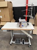 Juki MO-6914R 4 Thread Top Feed Overlock Industrial Sewing Machine | YOM: 2020 | LOCATED IN MANCHEST