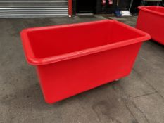 2 x Plastic Mobile 455L Containers