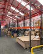 21 Bays of Link 51 Pallet Racking w/ Protection Barriers | CONTENTS NOT INCLUDED