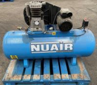 Nuair 200L Belt Driven Air Compressor - 3HP