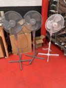 3 x Various Floor Standing Fans