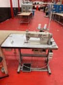 Brother Exedra E-40 Industrial Sewing Machine w/ Stand & Table Top