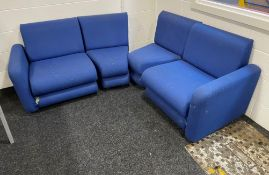 4 Piece Sectional Fabric Seating