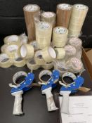 Quantity of Tape Guns & Rolls of Tape | As Pictured