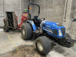 ONLINE AUCTION | New Holland Boomer 50 Tractor - 14 Plate | Trimax Snake Roller/Finishing Mower - YOM: 2014 | 10% Buyers Premium