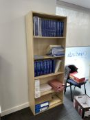 2 x 5 Tier Bookcases w/ Light Wood Effect | 77 x 30 x 200cm | CONTENTS NOT INCLUDED