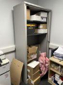 Cantilever Vertical Door Steel Cupboard w/ 3 x Shelves   100 x 200 x 50cm   CONTENTS NOT INCLUDED