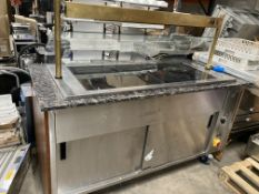 Wheeled Display/Serving Counter W/ Hot Plate