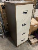 Metal 4 Drawer Filing Cabinet | *NO KEY*