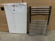 2 x Geyser Prime Heated Towel Rails