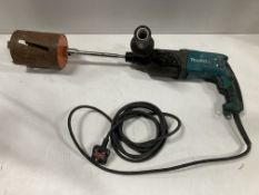 Makita Hammer Drill W/ Large Hole Saw | HR2470