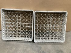 2 x Commercial Plastic Dishwasher Trays