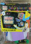 100 x Mister Maker Creative Sets | Collage Animals | Total RRP £400