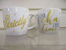 100 x Brand New Strictly Come Dancing Mugs | Total RRP £800