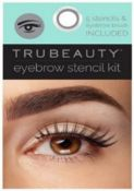 1000 x Brand New Trubeauty Eyebrow Stencil Kit | Total RRP £3,000