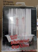 100 x Gift Republic Novelty Shower Curtain | Blood Bath