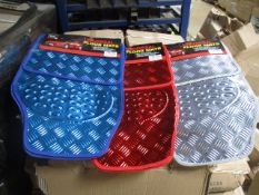 50 x 4 Pc Sets of Metallic Car Mats | Assorted Colours