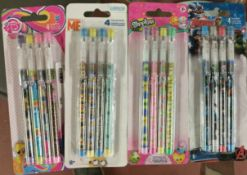 100 x Brand New & Sealed License Pencil Packs   4 Packs