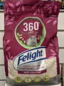 100 x Brand New Felight 360 Care Plant Based Cat Litter | 4 L | Total RRP £1,000