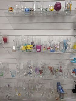 Bulk Lots of Glassware | Styles Incl: Glasses for Wine, Shots, Brandy, Champagne | Novelty Glasses | Assorted Colours | Ends  22 April 2021