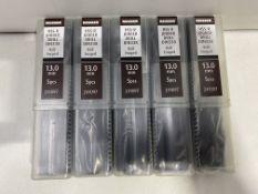 5 x Reisser HSS-R Jobber Drill | DIN338 13mm | Tube of 5 pcs