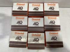 9 x Boxes Of Ormond Doublegrip Steel Recessed Countersunk Wood Screws