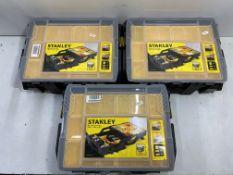 3 x Stanley Tools Sort Master Multi-Level Organisers | STA175540