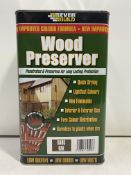 6 x Tins Everbuild Wood Preserver | 5 Ltr Tins